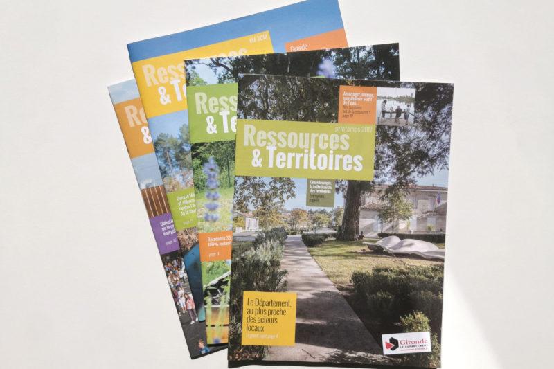 RESSOURCES & TERRITOIRES, magazine du conseil départemental de la Gironde