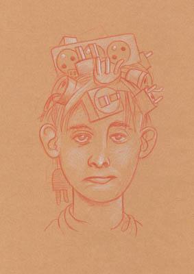 Marc Vernier, dessin, portrait, 100 prises de tête